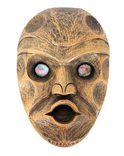 Indigenous Mask with Abalone Eyes