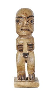 Diminutive New Zealand Style Statue of a Religious god