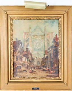 Jules Vernon (20th C, Paris), Oil on Canvas