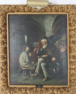 Lucioni (19th C, Italy) Oil on Canvas, Signed