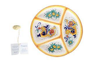 Hand-Painted Italian Deruta Plate