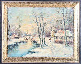 Piet V. Beek (20th c) Netherlands, Oil/Canvas