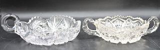 Pair of Cut Glass Bowls