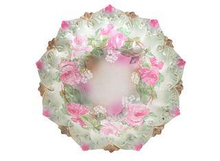 MZ Austria Porcelain Gilt and Floral Bowl