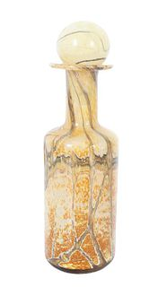 Hand Blown Art Glass Small Decanter and Stopper