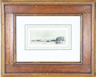 Alfred Thompson Bricher (1837-1908) Watercolor