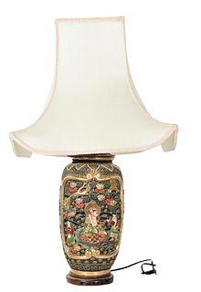 Chinese Figural Scene Lamp