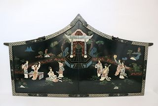 20th C Japanese Lacquerware Table Screen