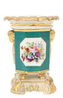 English Porcelain Floral Vase
