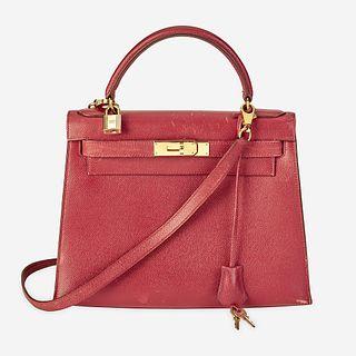 A rouge garance leather Kelly 28 bag Hermès
