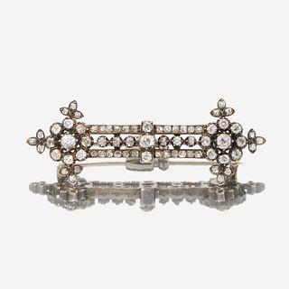 An antique diamond bar pin c. 1870