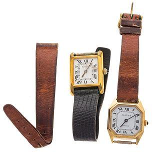 A Cartier Manual Wind Tank Wrist Watch & More