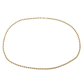 A Thick Twisted Rope Chain in 14K Yellow Gold
