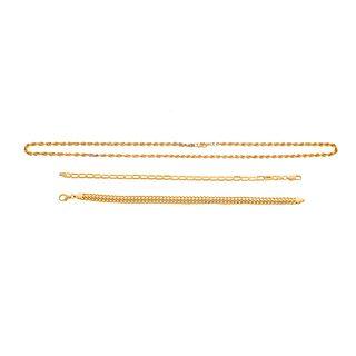 A 14K Necklace & Two 14K Bracelets