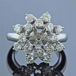 18k Gold Diamond Ring Mounting