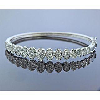 18k Gold 2.53ctw Diamond Bangle Bracelet