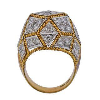 14k Gold Diamond Cocktail Ring