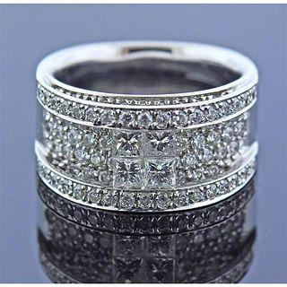 18K Gold Diamond Band Ring