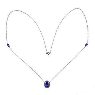 Kallati Gold Diamond Tanzanite Necklace