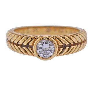 Octavio Sarda 18K Gold Diamond Engagement  Ring