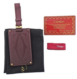 Cartier Leather Luggage Tag