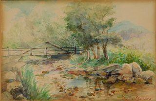 Diana Coomans Impressionist Landscape WC Painting