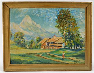 Fritz Kohler Impressionist Landscape Painting