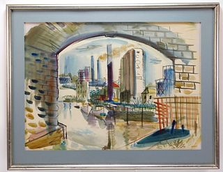 Francis Hamabe Modern Landscape WC Painting