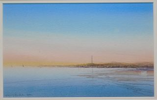 Harvey Dodd Provincetown Watercolor Painting