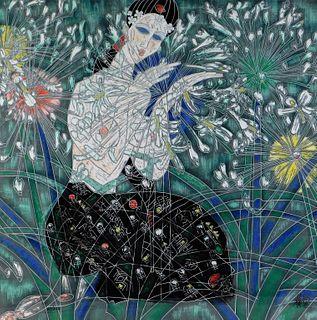 Jiang Tiefeng Abstract Nude Woman Lithograph