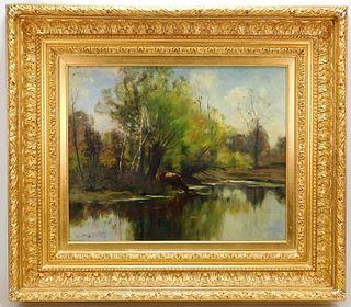 John Appleton Brown New England Landscape Painting