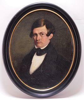 19C American School Portrait of a Gentleman