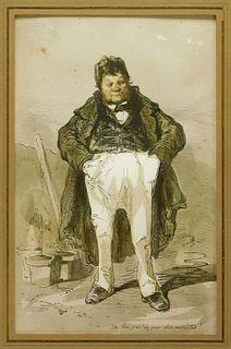 Aft Paul Gavarni Gentleman Photolithograph