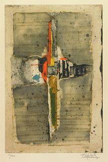 Johnny Friedlaender Abstract Aquatint Etching