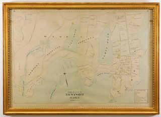 Antique Map of Newport & Mansions