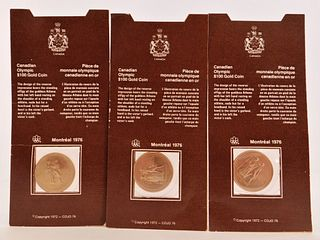 3PC 1972 Canadian Olympic Gold Coin Group