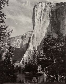 Ansel Adams (American, 1902-1984) A pair of Special Edition photographs printed by Alan Ross (Moon and Half Dome, Yosemite National Park, California,