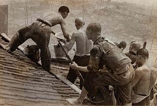 Robert Capa (Hungarian, 1913-1954) A pair of photographs (China, 1930s; Chartres, August 18, 1944)