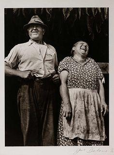Jack Delano (American, 1914-1997) Laughing Tobacco Farmers, Near Windsor Locks, Connecticut, 1940 (printed 1978)