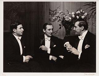 Alfred Eisenstadt (German/American, 1898-1995) Nathan Milstein, Vladimir Horowitz, Gregor Piatigorsky, Berlin, 1931 (printed 1979)
