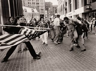 Stanley J. Forman (American, b. 1945) The Soiling of Old Glory, Boston, MA, 1976