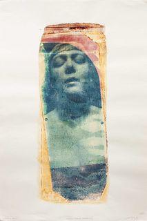 Paolo Gioli (Italian, b. 1942) A pair of polaroids (Ritratto di Carla, 1985; Omaggio Impuro a Bayard, 1983)