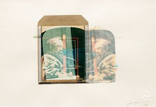 Paolo Gioli (Italian, b. 1942) A pair of polaroids (Untitled (double portrait of man with beard), 1984; Courbet, 1984)