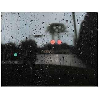 """YAMPIER SARDINA, La espera, de Rain series, Signed and dated fornt and back, Oil on canvas, 25.9 x 33.8"""" (66 x 86 cm), Certificate"""