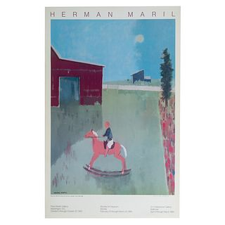 """Herman Maril. """"Riding Free,"""" offset lithograph"""