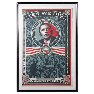 """Shepard Fairey. """"Yes We Did,"""" offset lithograph"""