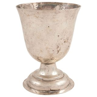 """CHALICE MEXICO, 19TH CENTURY Mexican silver 4.9"""" (12.5 cm) in height Total weight: 274 g"""