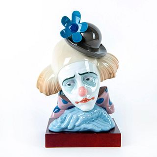 Pensive Clown 1005130 - Lladro Porcelain Figure Bust