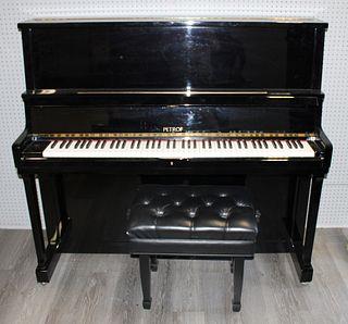Petrof  Ebonized Upright Piano Serial # 515304