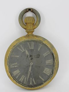 Antique Gilt Metal Watch Makers Sign